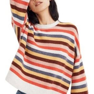 NWT Madewell Striped Oversized Sweater SZ Small